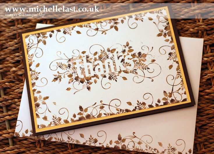 Stampin' Up! Thanks card using Seasonally Scattered - Stampin' Up! Demonstrator Michelle Last