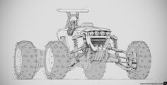 tractor, er, car?, Mike Hill on ArtStation at http://www.artstation.com/artwork/tractor-er-car