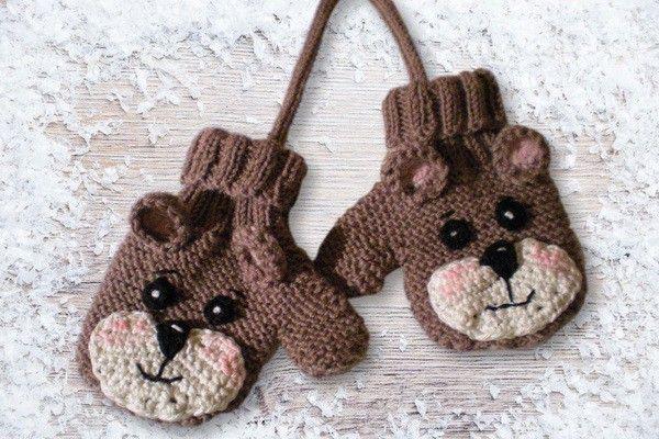 Варежки для малышей / Вязание спицами / Вязание спицами для детей