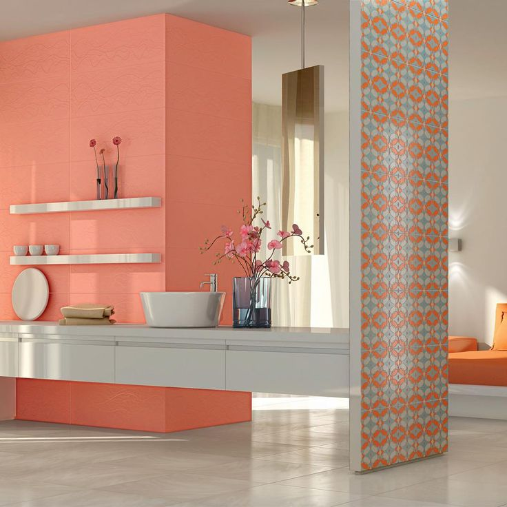 Refin Ceramiche 2008 #karimrashiddesign #industrialdesign #packagingdesign  #productdesigner #tiles. Orange BathroomsBright BathroomsColorful ...