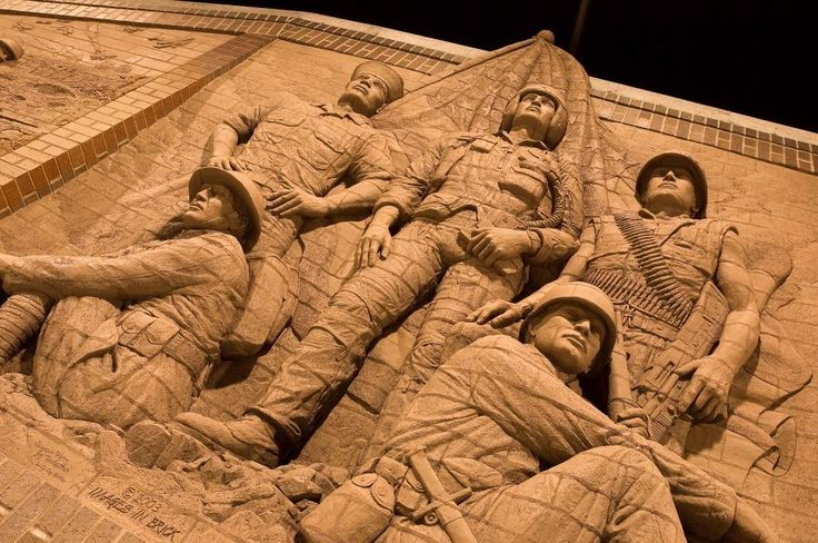 All five branches of america 39 s military service and all for Bas relief mural