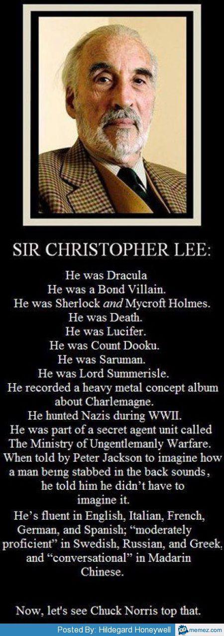 missharpersworld:  Rest in Peace Sir Christopher Lee.