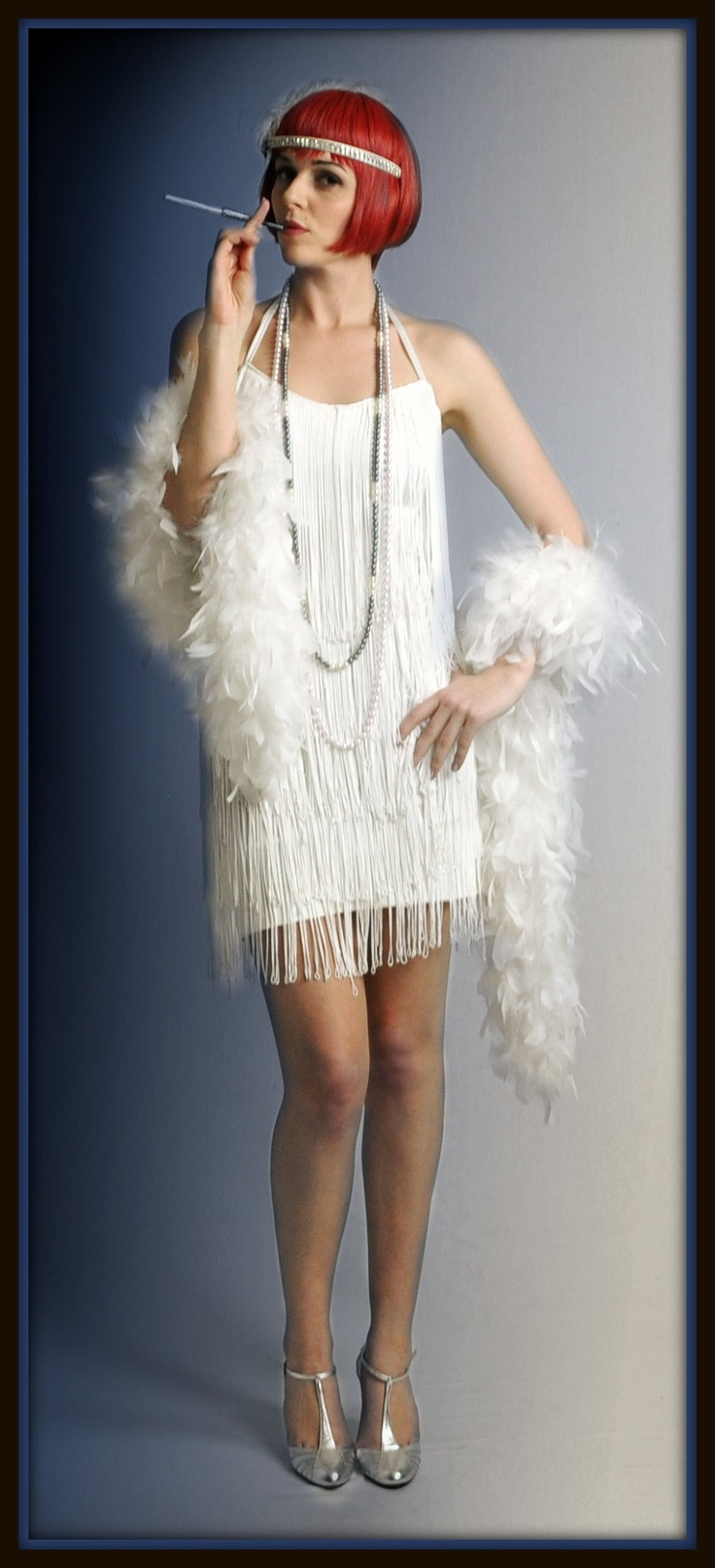Cute white fringed flapper costume perfect for a Gatsby party. The ...