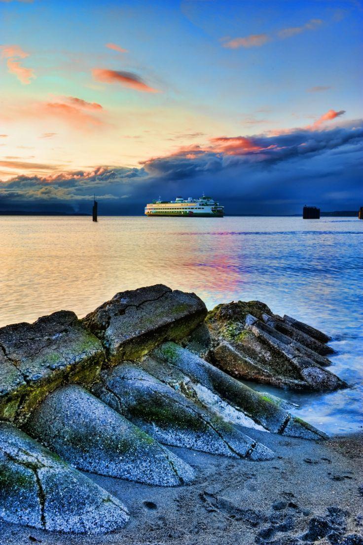 Puget Sound ferry, Edmonds, Washington