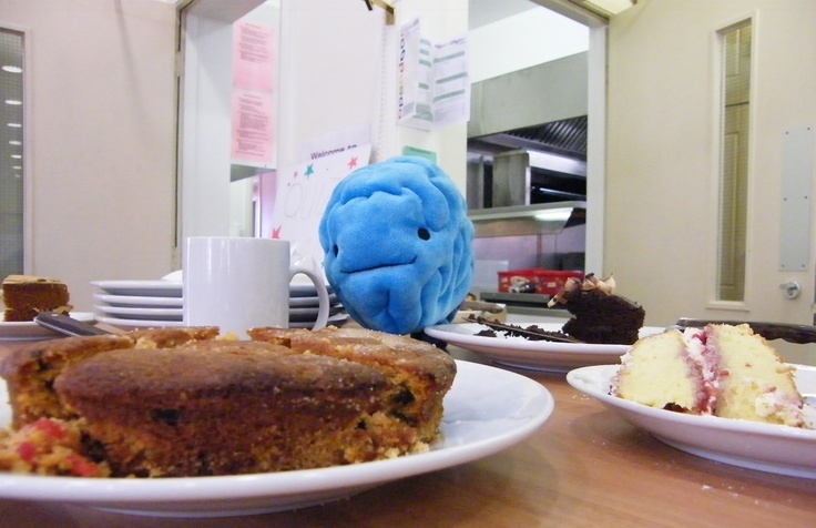 Brian keeps a close eye on the cakes at our Exmouth centre's Autumn coffee morning