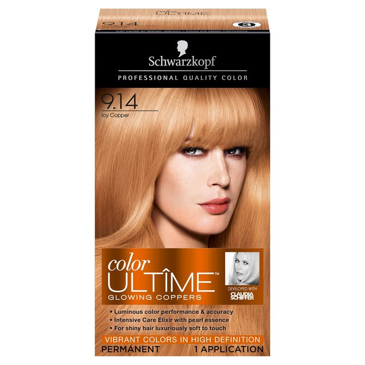 Schwarzkopf Color Ultime Glowing Coppers Hair Color 9.14 Icy Copper - 2.03 fl oz