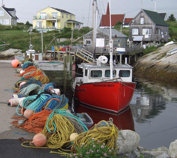 This colourful scene was captured at Peggy's Cove, near Halifax, Nova Scotia, Canada. The ropes would be used by fishermen at this small port. Credit: Steve Newfield/Flickr
