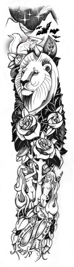 Tattoo Sleeve Sketches: 13931 Best Tattoo Idea Images On Pinterest