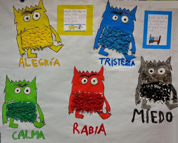 Pintando sonrisas de colores: El monstruo de colores nos ayuda a reconocer nuestras emociones.
