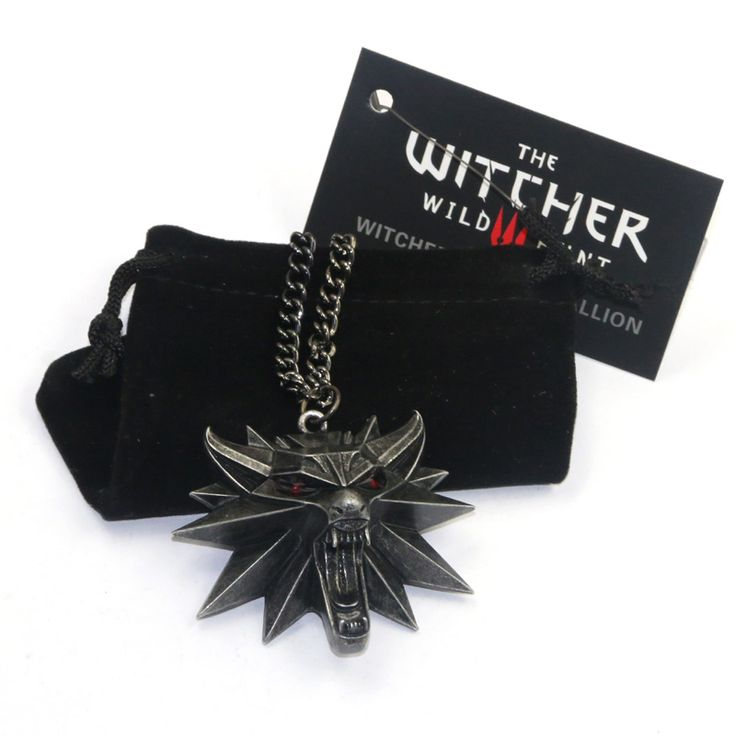 New Wizard witcher medallion wolf head pendant necklace the witcher 3 wild hunt pendant witcher necklace EL002