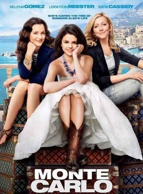 """Monte Carlo"" The latest vacation movie for this summer is teen-oriented Monte Carlo, starring Selena Gomez, Leighton Meister, and Katie Cassidy. The movie tells the story of three Texas teenagers who ditch a disappointing package tour of Paris in order to live the high life in Monte Carlo when one is mistaken for an heiress."