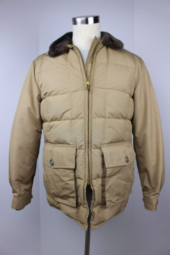 3d2b3f30cbd95 Vintage Eddie Bauer Blizzard Proof Down Coat Jacket 38 M Yukon USA 50s 1960s  1   eBay