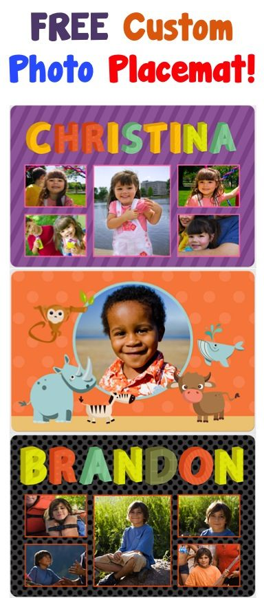 FREE Custom Photo Placemat! {just pay s/h} ~ jazz up your kitchen table, or make a fun gift!