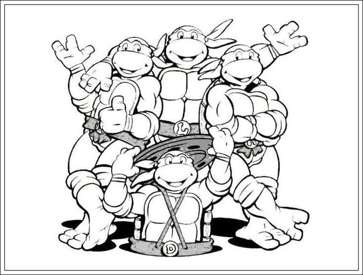 ausmalbilder ninja turtles  ausmalbilder geburtstag