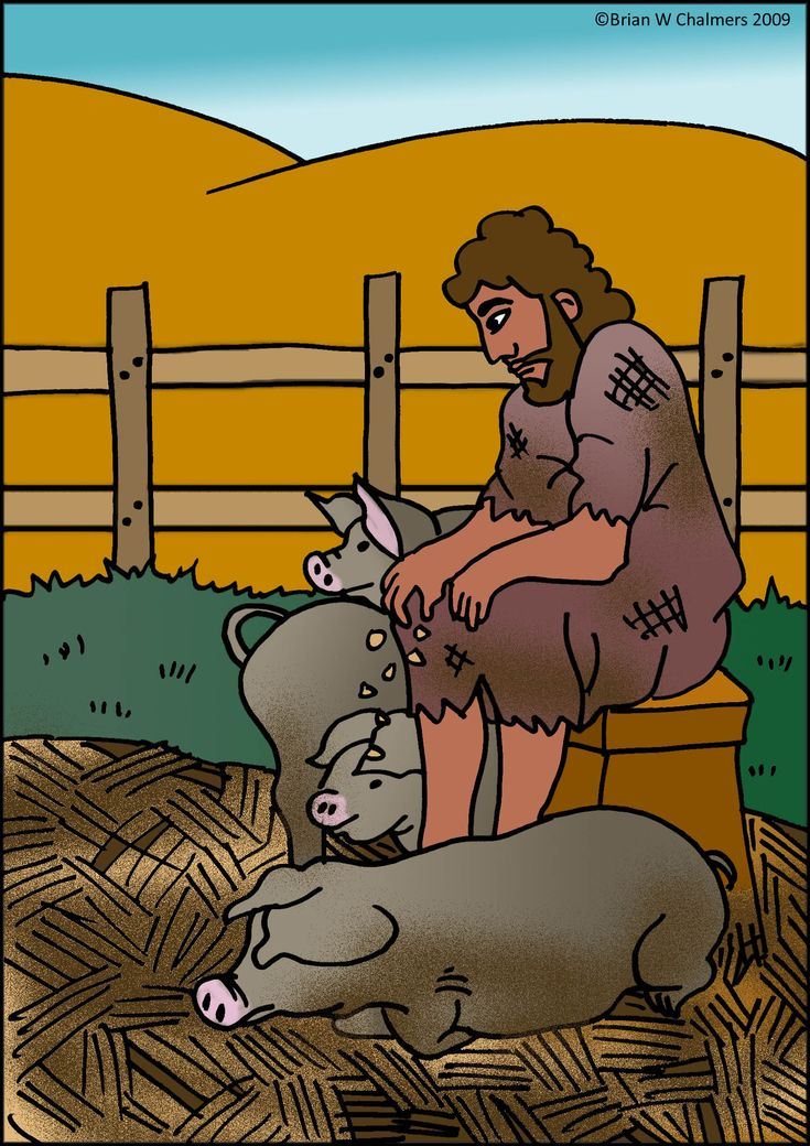 The Prodigal Son Feeds the Pigs.