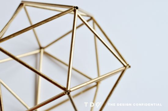 DIY // Faux Brass Himmeli Orb tutorial