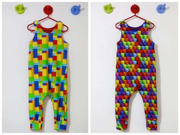 Zap Pow Baby Romper , Cubes Toddlers Harem Romper,  Blocks Kids Dungarees, Jersey overall, Kids Dungarees by BespokeKidsClothing on Etsy