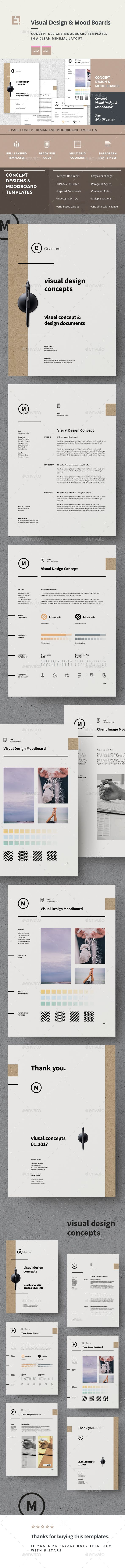 Concept Design Mood Board Templates Stationery TemplatesInvoice