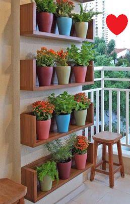 Solução para quem tem pouco espaço, mas não abre mão de um jardim!