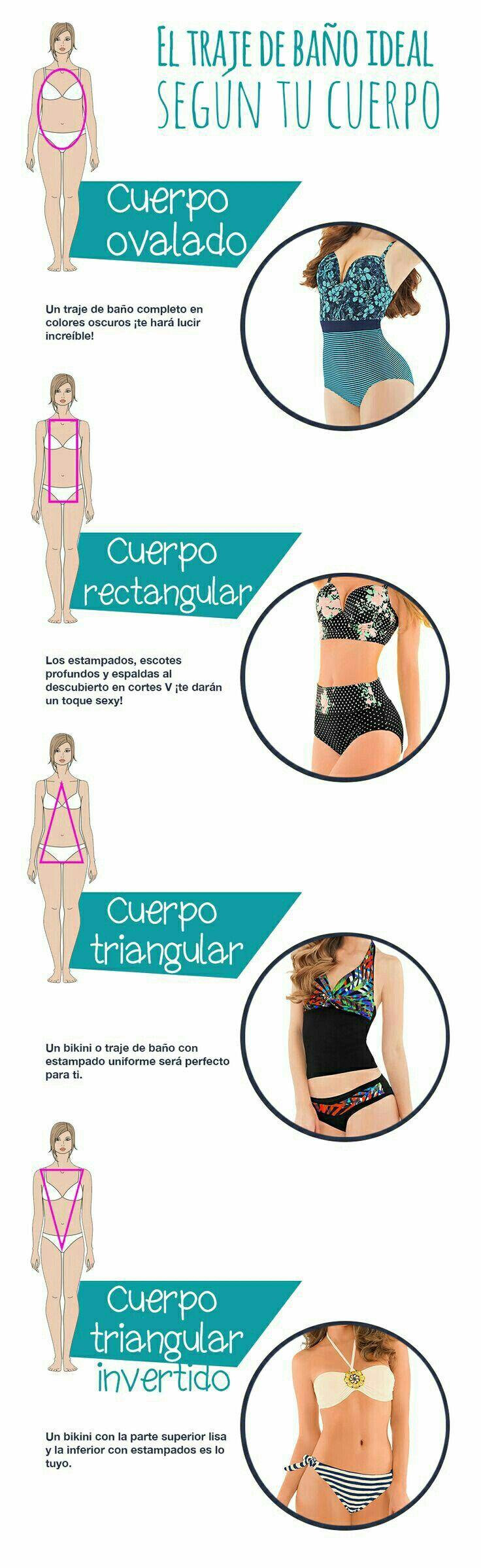 Aprende a escoger el bikini perfecto de acuerdo con tu tipo de cuerpo.