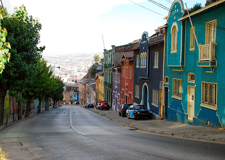 Colourful houses in Valparaiso.