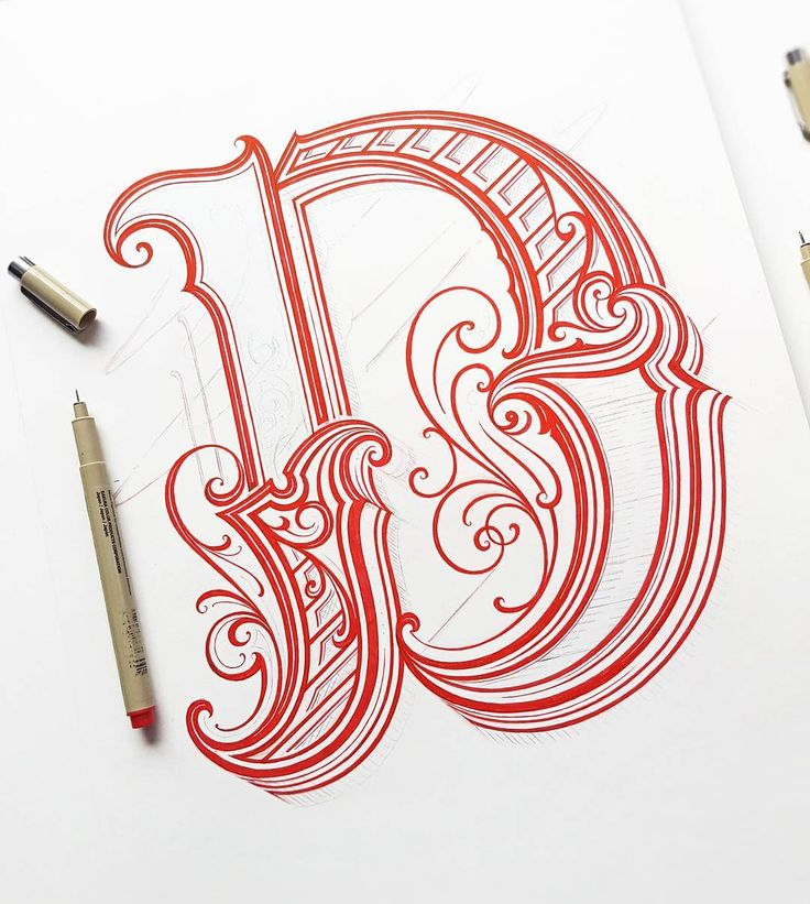 Letter D For A New Print Project #handlettering #lettering