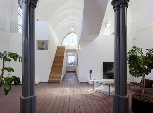 9-AD-Church Converted Into Modern Family Home, Holland-03