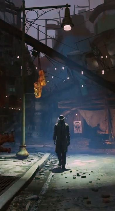 #Fallout4 Official Trailer, that has to be Nick Valentine from diamond city