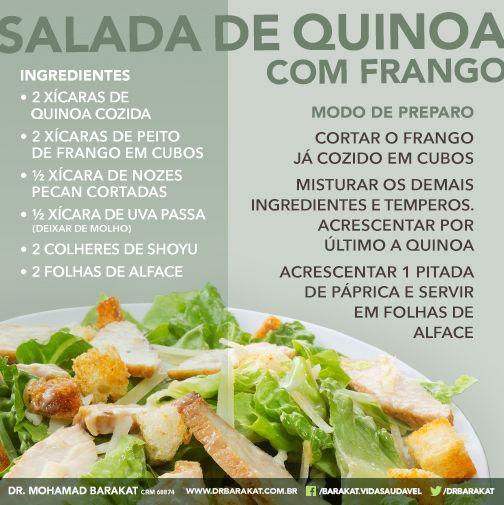 Salada de Quinoa com Frango - Dr. Barakat