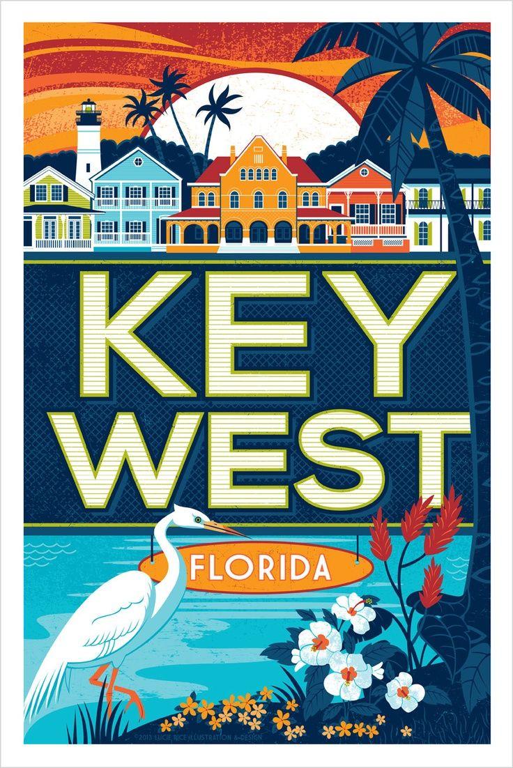 Keys West Florida Beach, Florida Keys, Vintage Travel, Travel Posters ...