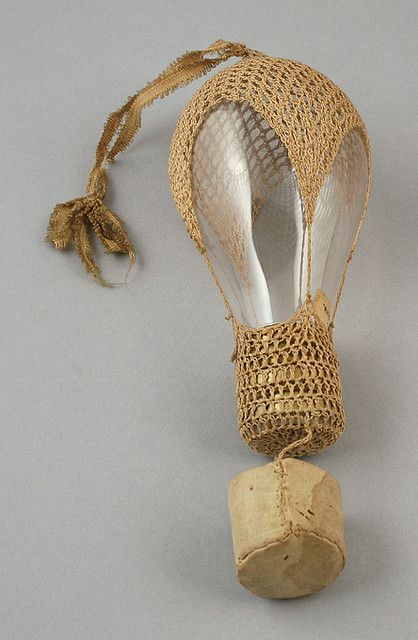 Light bulb with crocheted cover attributed to Elizabeth Beaty Nace McNaul, Town of Vermont, Dane County, Wisconsin, ca. 1900-1935