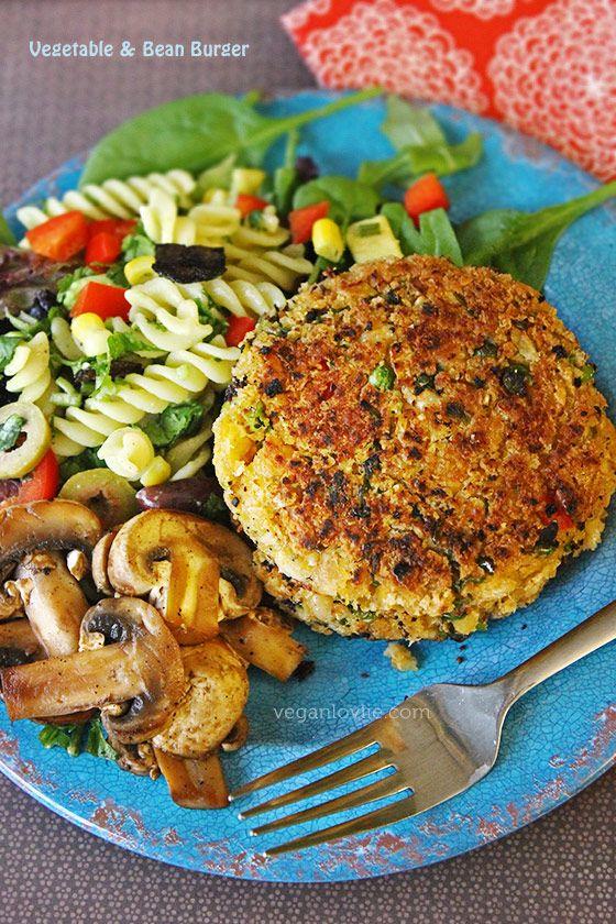 Vegetable Bean Burger, vegan burger (Sounds wonderful!!!)