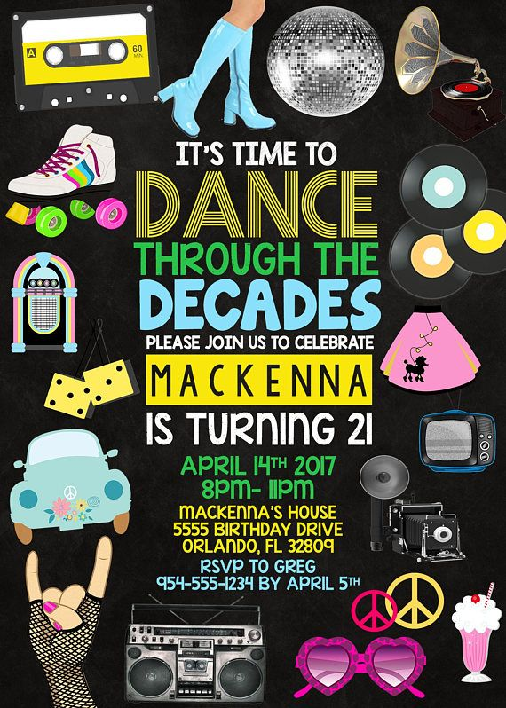 Hip Hop Graffiti Birthday Party Invitations 5x7 Set of 20