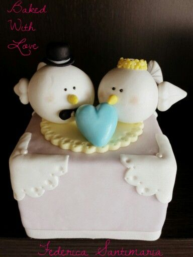 Birds wedding cake topper #BakedWithLove by Federica Santimaria