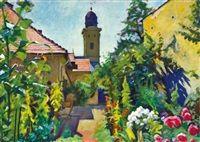 The garden of the artist in Nagybánya by Sándor Ziffer