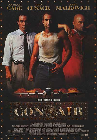 nicholas cage  movie con air | CON AIR POSTER ]
