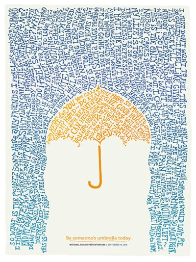 Be someone's umbrella today.//cheerfulness