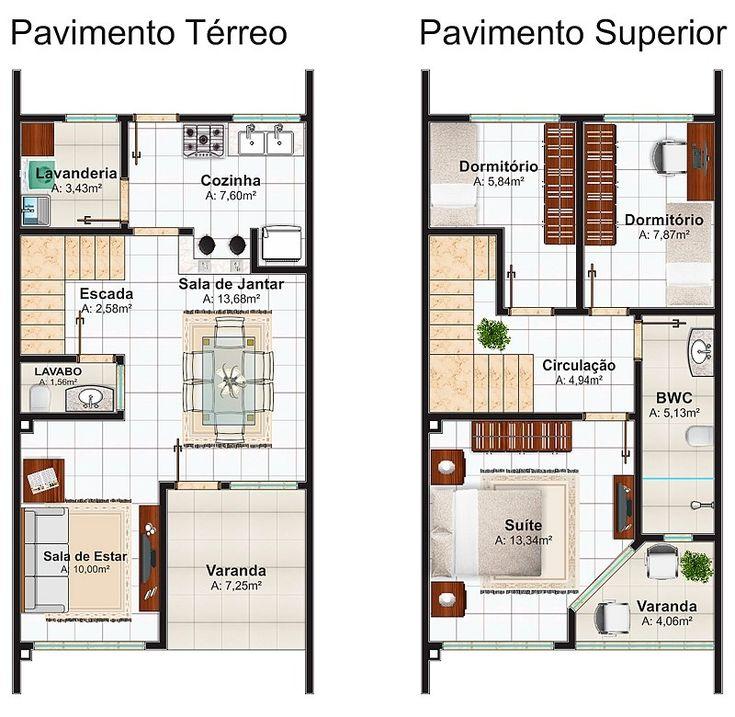 Planta Baixa Casa 5x14 on Floor Plans For Small Cabins