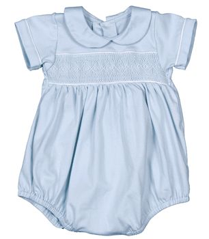 Smocked baby boy bubble...love this!