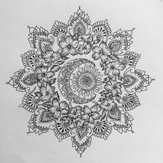 sonne - mond - wildblumen - mandala