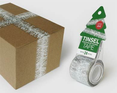 Tinsel Tape: Decor Boxes, Gifts Ideas, Cute Ideas, Christmas Long Distance, Christmas Wint, Tinsel Tape, Festivals Decor, Christmas Gifts, Holidays Christmas