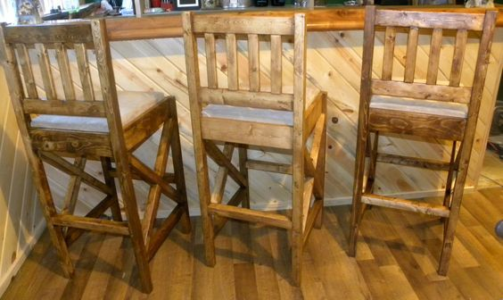 Rustic Bar Stools | Do It Yourself Home Projects from Ana White