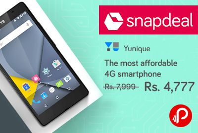 Snapdeal brings #YUYunique #Mobile (#4G #VoLTE, 8GB) Only Rs.4777. Features: 4G VoLTE Connectivity, 1 GB RAM & 8 GB ROM, 11.93 (4.7) HD Display, 1.2 GHz Qualcomm Quad Core, Corning Gorilla Glass 3, 2000 mAh Battery, 1 Year Manufacturer Warranty.  http://www.paisebachaoindia.com/yu-yunique-mobile-4g-volte-8gb-only-rs-4777-snapdeal/
