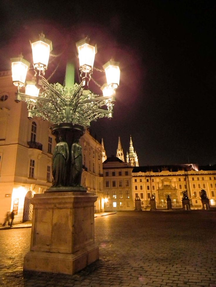 Gas Light in front of Prague Castle, Czech Republic