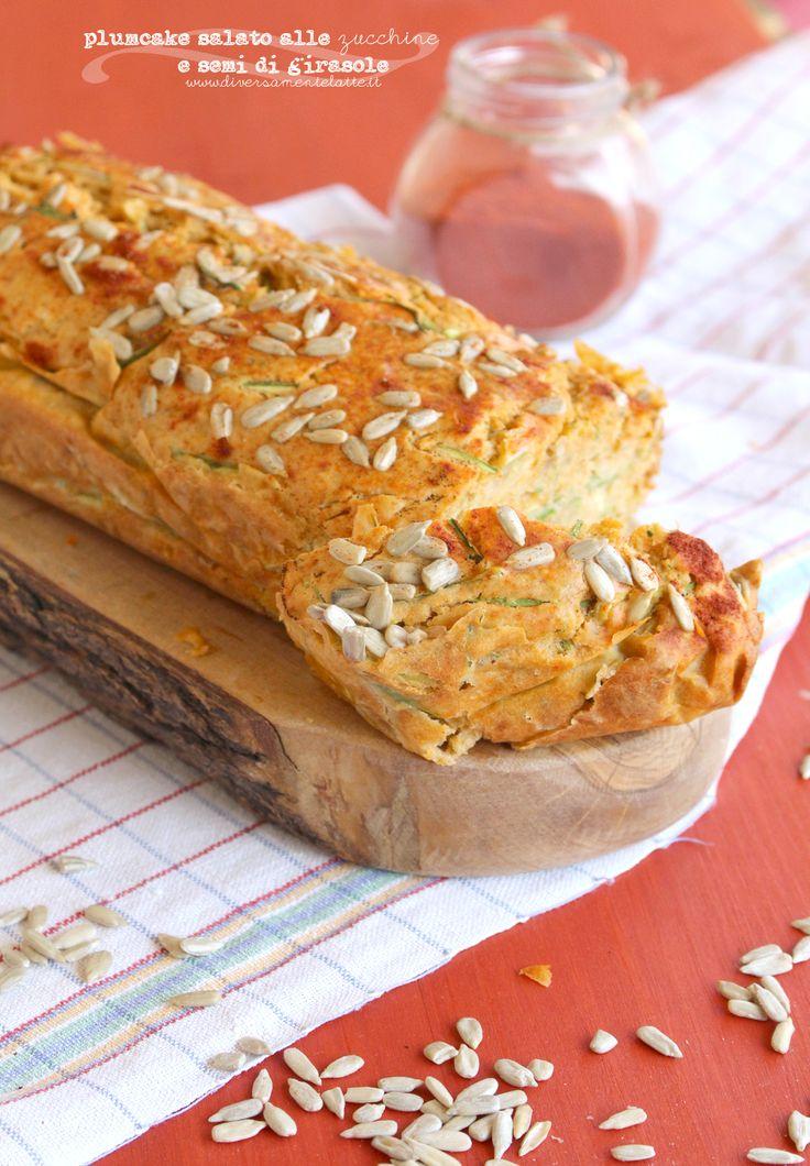plumcake alle zucchine e semi di girasole senza lattosio