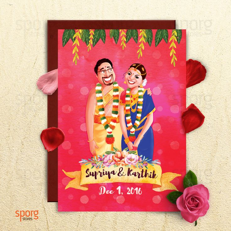 14 best Illustrated Indian Wedding Invitations images on Pinterest ...