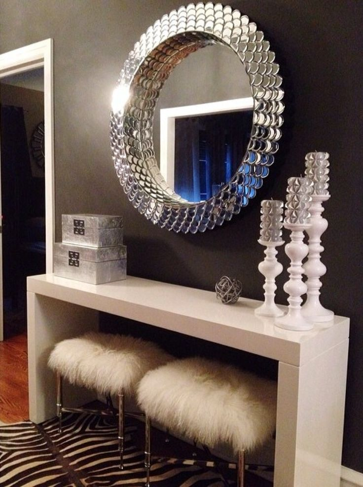 Entryway Is As Glam As It Gets. Features Our Ming Boxes, Aluminum Knot,  Studded Candles U0026 Mariposa Pillar Holders.