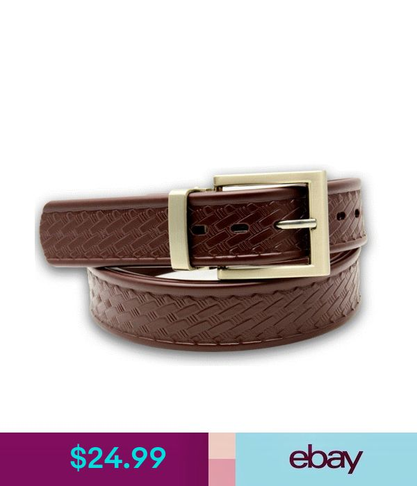 "Amish Made Brown Heavy Duty 1.25/"" Basket Weave Dress Work Belt Biothane Leather"