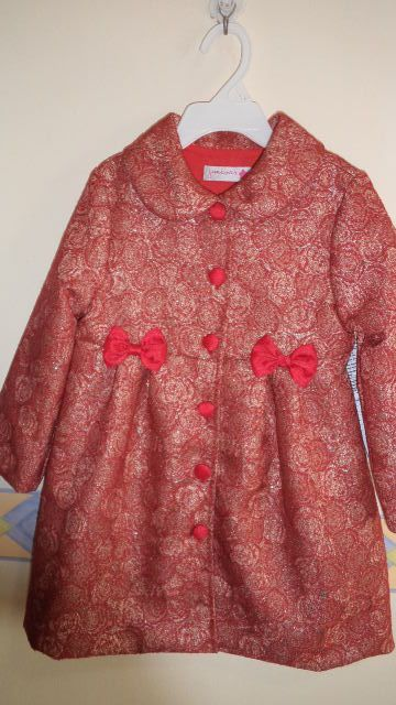 infant coat dress in brocade fabric...majestic!
