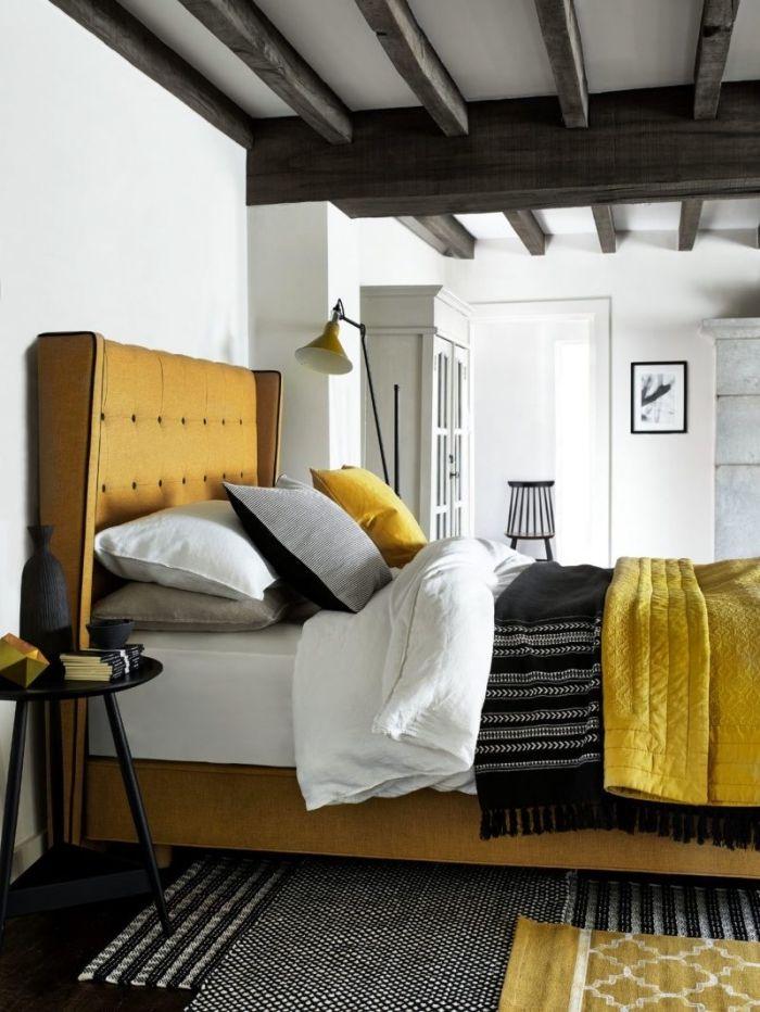 1001 Secrets Pour Reussir La Deco Jaune Moutarde Chambre A